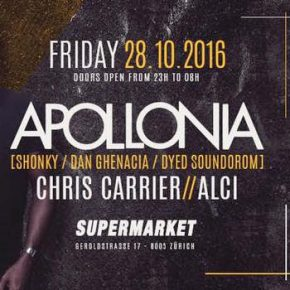 Terrazzza with Apollonia @ Supermarket, Zurich, October 28th fri 2016